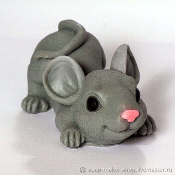 Silicone soap mold 'Big mouse 3D», Form, Shahty,  Фото №1
