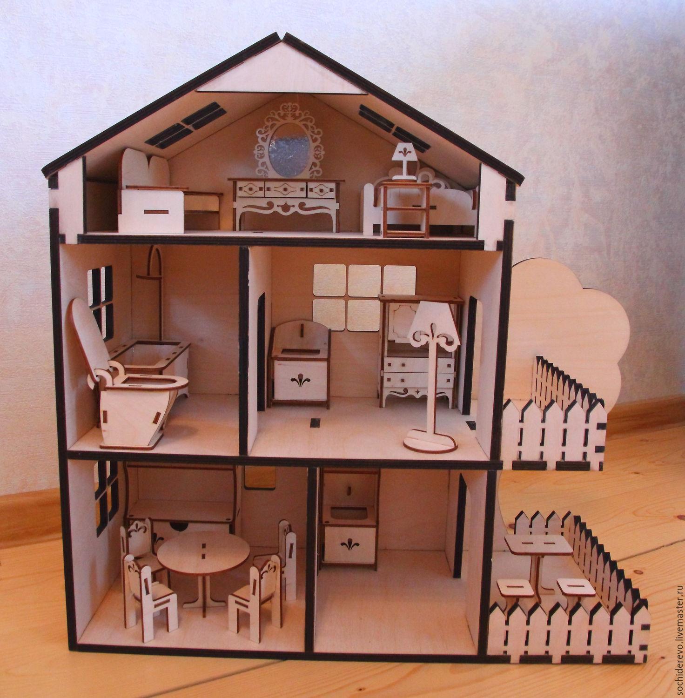 Как сделать кукольный дом с мебелью своими руками