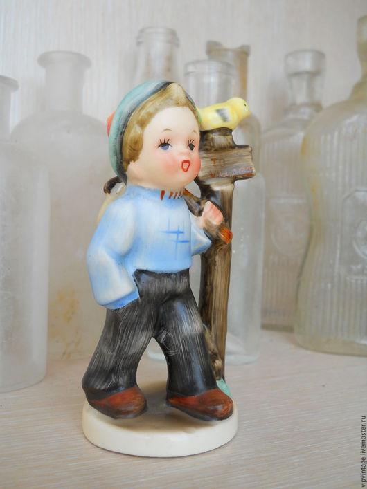 Винтажные предметы интерьера. Ярмарка Мастеров - ручная работа. Купить Винтажная статуэтка Мальчик JAPAN. Handmade. Винтажная статуэтка japan