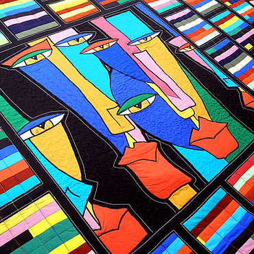 Для дома и интерьера ручной работы. Ярмарка Мастеров - ручная работа Лоскутное покрывало  АЛЬТЕР ЭГО. Handmade.