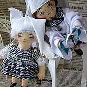 Куклы и игрушки ручной работы. Ярмарка Мастеров - ручная работа Пьеро и Коломбина. Handmade.