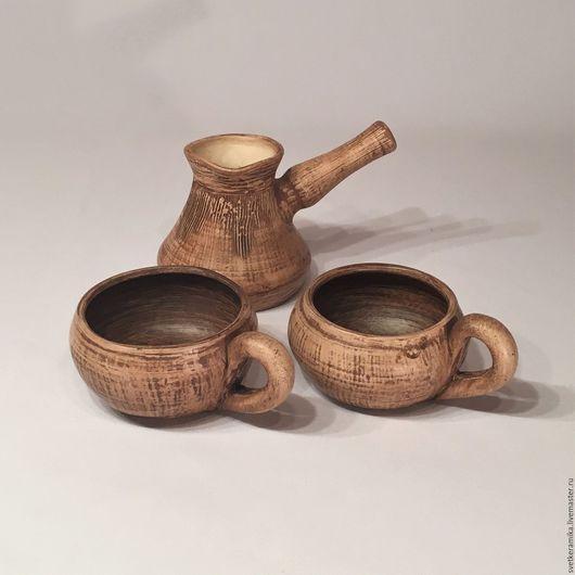 Кухня ручной работы. Ярмарка Мастеров - ручная работа. Купить Керамический набор для кофе «Утренний покой». Handmade. Керамический плафон