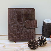 Сумки и аксессуары handmade. Livemaster - original item Business card holder crocodile leather IMA0134K4. Handmade.