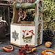 """Корзины, коробы ручной работы. Ярмарка Мастеров - ручная работа. Купить Лукошко 2 из зимней коллекции """"Мой зеленый новый год"""". Handmade."""