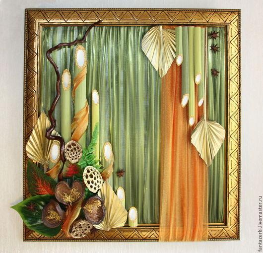 """Интерьерные композиции ручной работы. Ярмарка Мастеров - ручная работа. Купить Картина """"Мелодия природы"""". Handmade. Разноцветный, картина с цветами"""