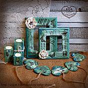 """Сувениры и подарки ручной работы. Ярмарка Мастеров - ручная работа Фотрамка """"Мятная любовь"""". Handmade."""
