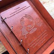 Подарочные коробки ручной работы. Ярмарка Мастеров - ручная работа Подарочные коробки: Именной блокнот в подарочной упаковке. Handmade.
