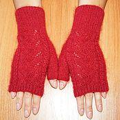 Аксессуары handmade. Livemaster - original item Knitted mittens