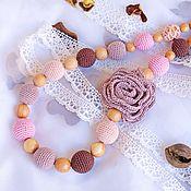 "Одежда handmade. Livemaster - original item Слингобусы ""Роза капуччино"". Handmade."