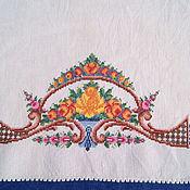 Винтаж handmade. Livemaster - original item Vintage bath towel with embroidery. Handmade.
