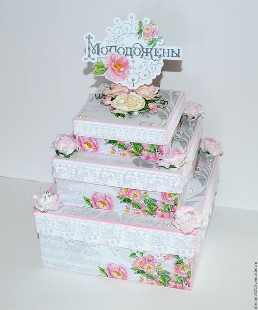 """Подарки на свадьбу ручной работы. Ярмарка Мастеров - ручная работа. Купить Свадебный торт """"Fleur""""для аукциона. Handmade. Торт, для аукциона"""