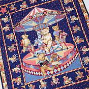 Работы для детей, handmade. Livemaster - original item TEDDY BEARS ON CAROUSEL baby blanket. Handmade.