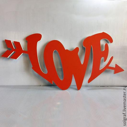 Интерьерные слова ручной работы. Ярмарка Мастеров - ручная работа. Купить Объёмная надпись LOVE. Handmade. Буквы для интерьера