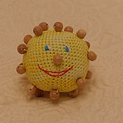 """Куклы и игрушки ручной работы. Ярмарка Мастеров - ручная работа Тактильный мячик """"Колобок"""". Handmade."""