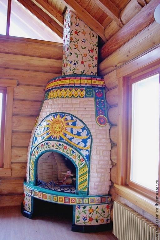 Tiled fireplace 'Svarog', Fireplaces, Moscow,  Фото №1