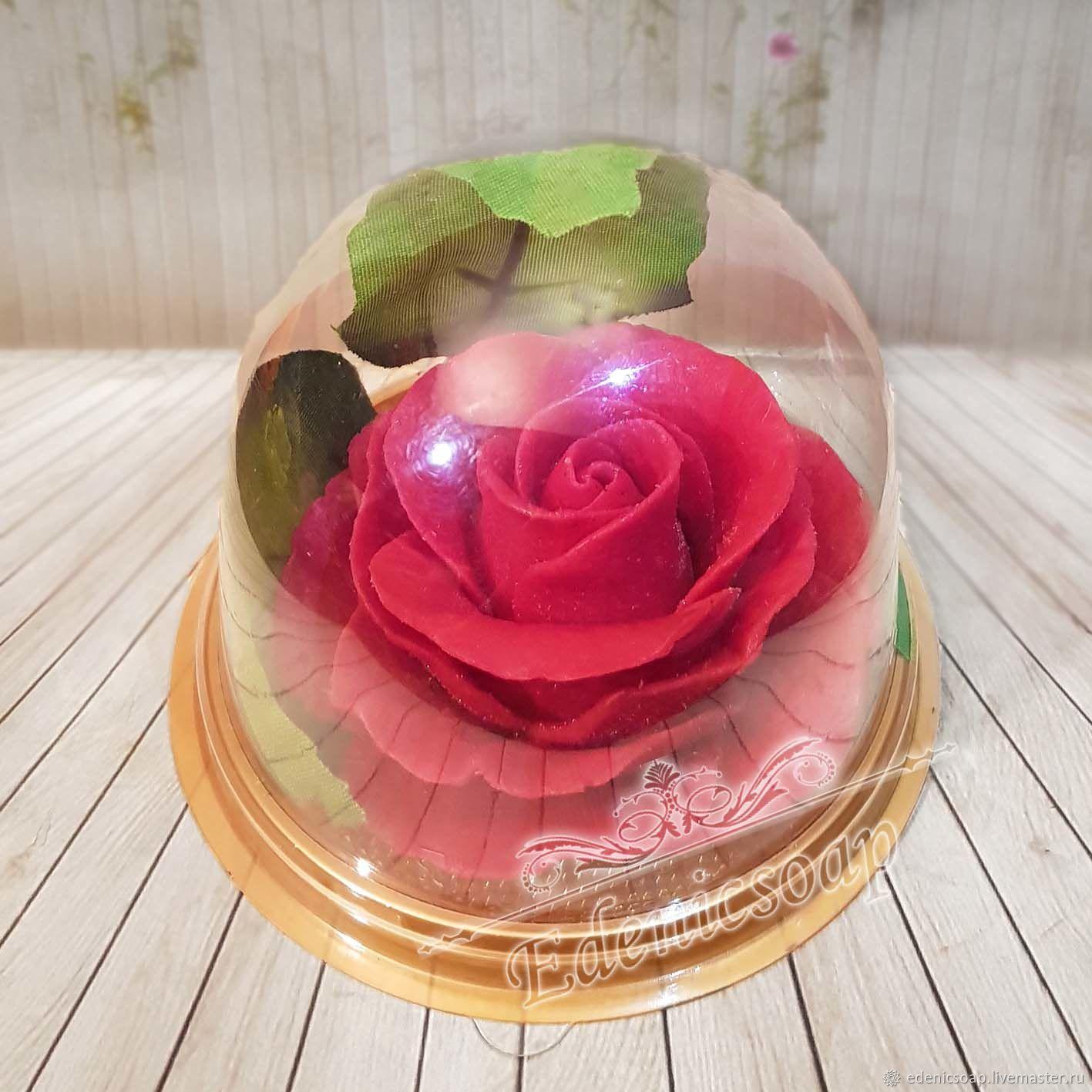 """""""Роза в куполе"""" мыло сувенирное подарок учителю цветы, Мыло, Москва, Фото №1"""