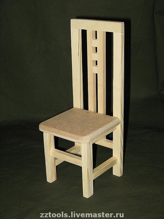 Стульчик деревянный № 1, Мебель для кукол, Тольятти,  Фото №1