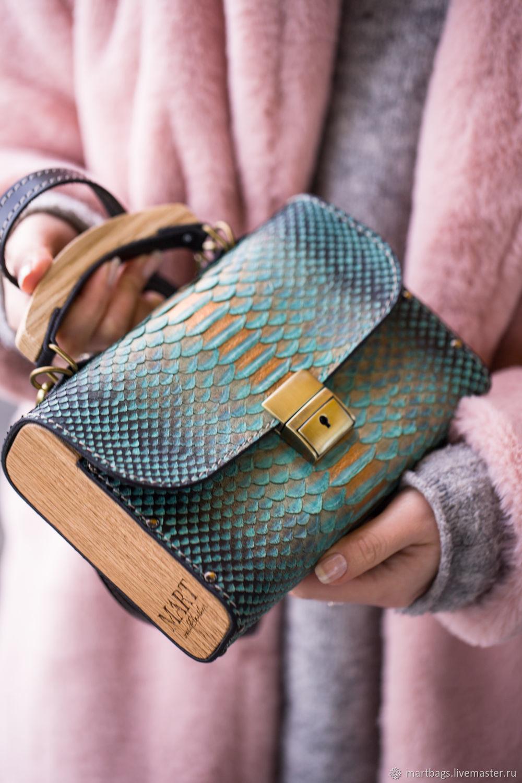Женская сумка из кожи питона, Сумка через плечо, Санкт-Петербург,  Фото №1