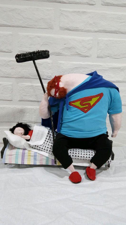 Коллекционные куклы ручной работы. Ярмарка Мастеров - ручная работа. Купить Мой папа самый лучший!!!. Handmade. Папа и дочка