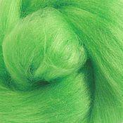 """Ткани ручной работы. Ярмарка Мастеров - ручная работа Шелк Тусса окрашеный цвет зеленый """"Mint"""" 10 грамм. Handmade."""