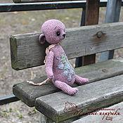 Куклы и игрушки ручной работы. Ярмарка Мастеров - ручная работа Смородиновый с мелиссой, вязаный тедди, мишка-саше, льняной  мишка. Handmade.