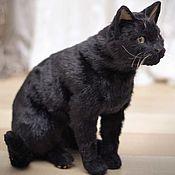 Куклы и игрушки handmade. Livemaster - original item Black Cat. Realistic toy. Handmade.