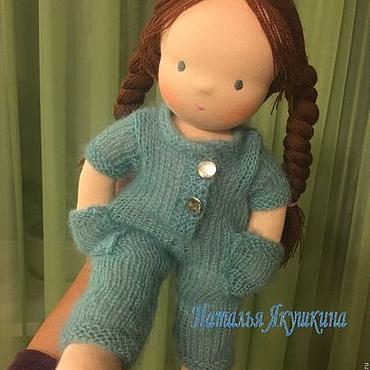 Куклы и игрушки ручной работы. Ярмарка Мастеров - ручная работа Малинка - вальдорфская куколка. Handmade.