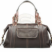 Сумки и аксессуары handmade. Livemaster - original item Womens leather handbag Eiffel tower brown. Handmade.