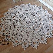 Для дома и интерьера handmade. Livemaster - original item Cotton knitted carpet Flirting. Handmade.