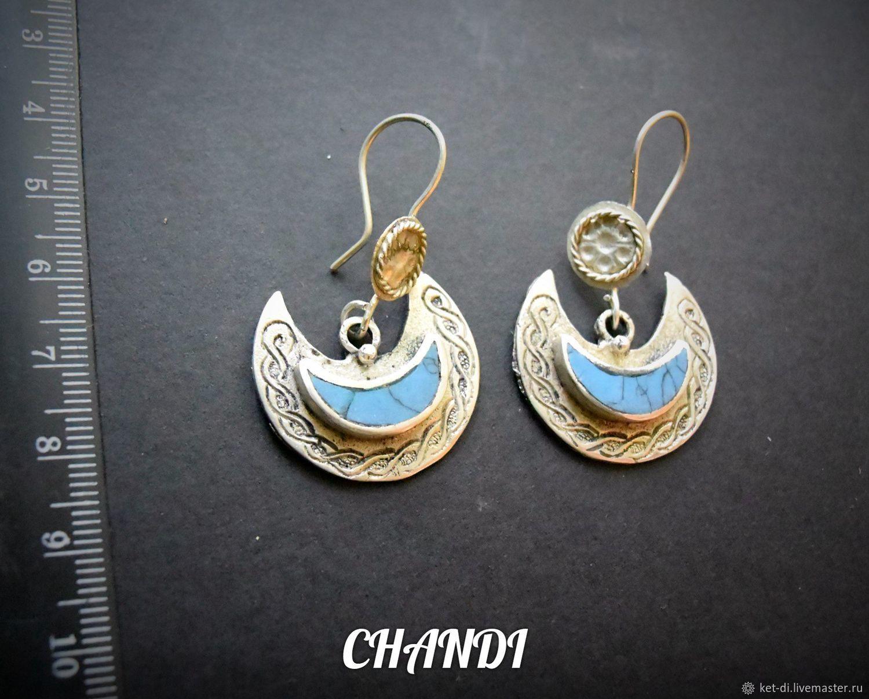 Pakistani Earrings with enamel, Earrings, Moscow,  Фото №1