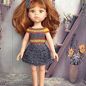Куклы и игрушки ручной работы. Ярмарка Мастеров - ручная работа Наряд для кукол паола рейна серый. Handmade.