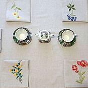 handmade. Livemaster - original item Linen tablecloth wildflowers. Handmade.