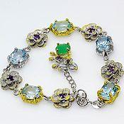 Украшения handmade. Livemaster - original item Silver bracelet with Topaz.. Handmade.