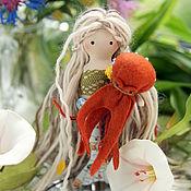 Куклы и игрушки ручной работы. Ярмарка Мастеров - ручная работа Русалочка и  её осьминог. Handmade.