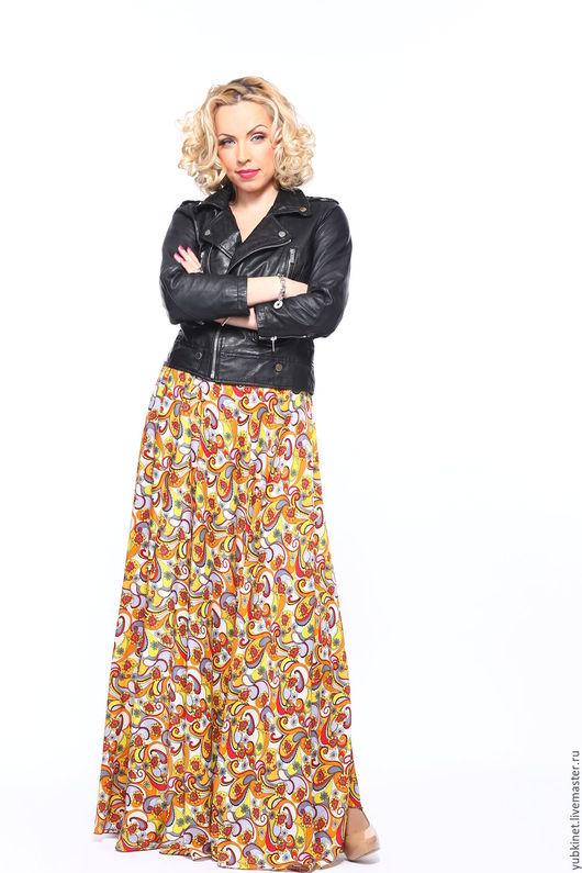 Юбки ручной работы. Ярмарка Мастеров - ручная работа. Купить Длинная летняя юбка Севилья. Handmade. Пейсли, юбка