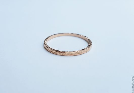Кольца ручной работы. Ярмарка Мастеров - ручная работа. Купить Тонкое кольцо из золота. Handmade. Золотой, стековое кольцо, золото