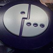 Дизайн и реклама ручной работы. Ярмарка Мастеров - ручная работа Формованный логотип из пластика мегафон. Handmade.