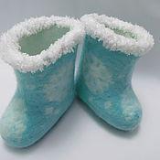 Felt boots handmade. Livemaster - original item boots snow. Handmade.