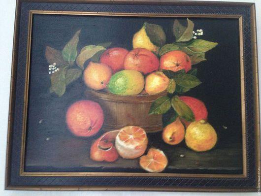Натюрморт ручной работы. Ярмарка Мастеров - ручная работа. Купить Натюрморт Лимоны и апельсины. Handmade. Картина в подарок, масляная живопись