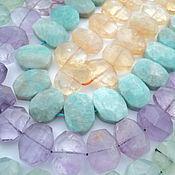 Материалы для творчества handmade. Livemaster - original item Labradorite, prehnite, Ametrine, Citrine, amazonite stones friform 14-16mm. Handmade.