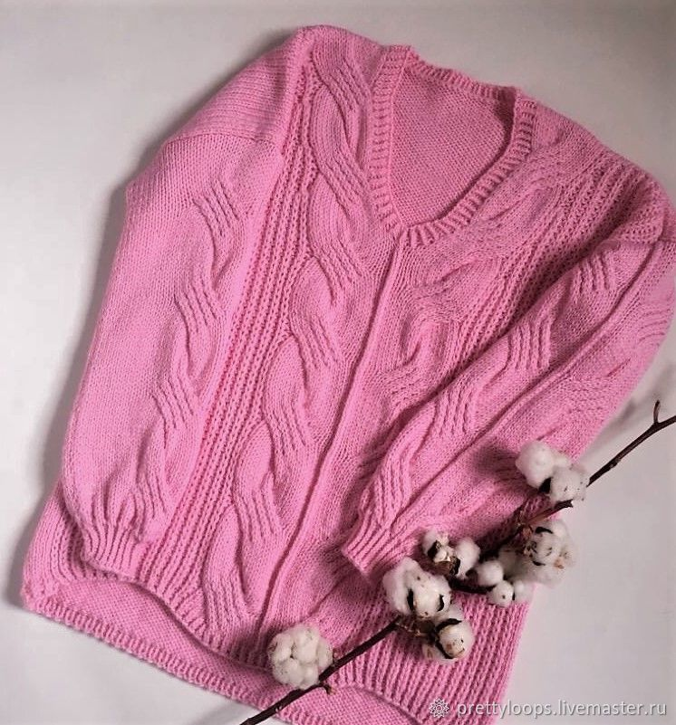 "Пуловер ""Pink Orchid"", Пуловеры, Екатеринбург,  Фото №1"