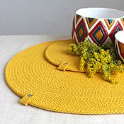 Для дома и интерьера handmade. Livemaster - original item Swipe: Napkins serving cotton placemats. Handmade.