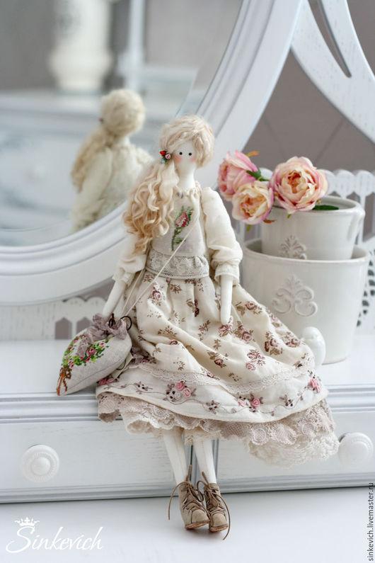Куклы Тильды ручной работы. Ярмарка Мастеров - ручная работа. Купить Лорейн. Handmade. Тильда, декор для интерьера, хлопок