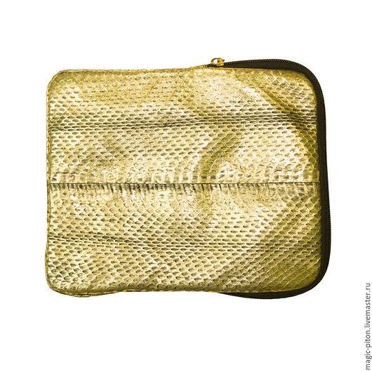 Сумки для ноутбуков ручной работы. Ярмарка Мастеров - ручная работа. Купить Итальянская сумка для планшетов из кожи питона. Handmade. Золотой