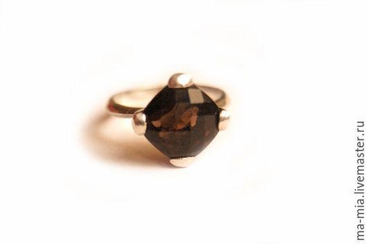 Кольца ручной работы. Ярмарка Мастеров - ручная работа. Купить кольцо Зимний вечер. Handmade. Коричневый, кольцо с раухтопазом