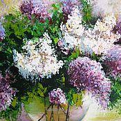 Картины и панно handmade. Livemaster - original item Original acrylic painting on canvas flowers wall decoration. Handmade.