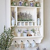 Для дома и интерьера handmade. Livemaster - original item Kitchen shelf white series Scented Lavender. Handmade.