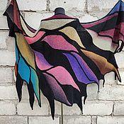 Аксессуары handmade. Livemaster - original item Shawl Large Knitted Spokes Stole Bright Accessory. Handmade.