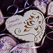 """Подарки к праздникам ручной работы. Ярмарка Мастеров - ручная работа Имбирные пряники """"Сердечко"""". Handmade."""