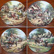 Винтаж handmade. Livemaster - original item Complete set of plates